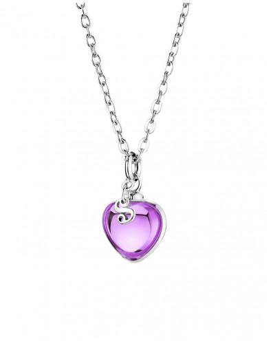 Djai I Herzanhänger - Amethyst violett