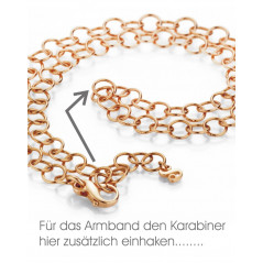 Pagoy I Fantasy Kette+Armband rosévergoldet