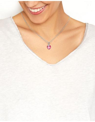 Djai Herzanhänger Rhodolit pink rhodiniert