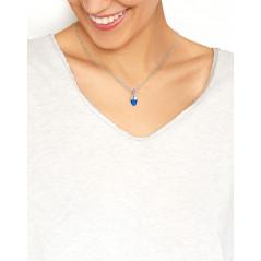 Suay I Schmuckanhänger I Sapphire blau I Silber rhodiniert