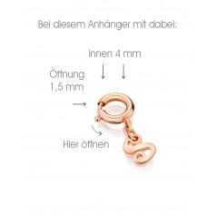 Suay I Schmuckanhänger I Aqua türkis I rosevergoldet