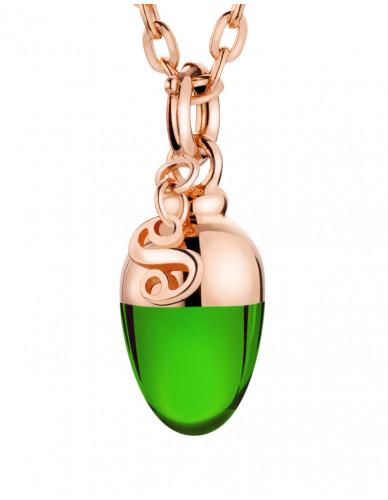 Suay I Schmuckanhänger I Emerald grün I rosevergoldet