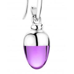 Suay I Ohrschmuck I Amethyst violett I Silber rhodiniert