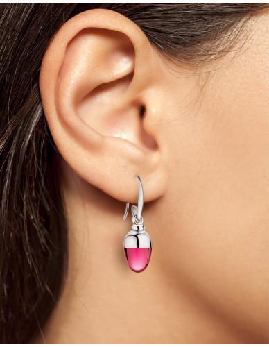 Suay I Ohrschmuck I Rhodolit pink I Silber rhodiniert