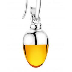 Suay I Ohrschmuck I Amber orange I Silber rhodiniert