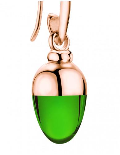 Suay I Ohrschmuck I Emerald grün I Silber rosévergoldet
