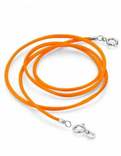 Pagoy I Schmuck-/Maskenband I Amber orange Silber rhodiniert