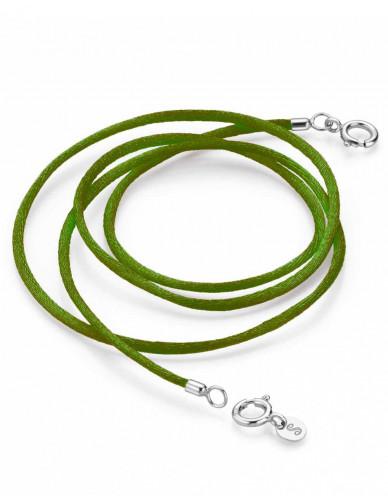 Pagoy I Schmuck-/Maskenband I Emerald grün Silber rhodiniert