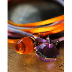 Pagoy I Schmuck-/Maskenband I Rhodolit pink Silber rhodiniert